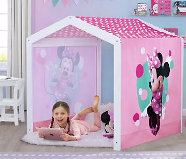 PlayroomDelta Children Disney Minnie Mouse Indoor Playhouse with Fabric Tent for Boys and Girls   Ashley Furniture HomeStore