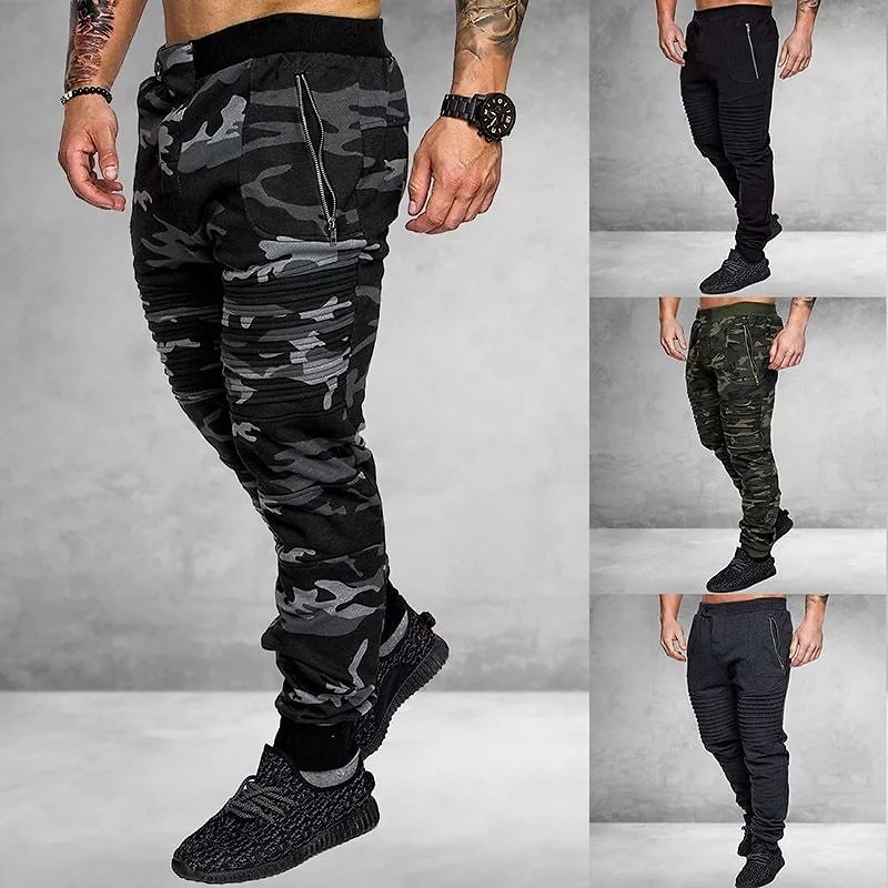2020 Autumn Casual Classic Men Jeans New Brand Fashion Camouflage Print Pocket Jeans Trousers Cool Jeans Men Joggers
