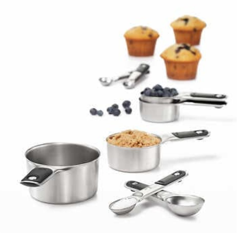 OXO Stainless Steel Measuring Cups and Spoons Set, 8-piece