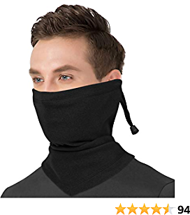 BEACE Neck Warmer Gaiter(with Adjustable Drawstring)-Windproof Ski Face Mask for Men & Women-Cold Weather Face Cover,Face Mask Warmer for Motorcycle/Cycling/Running/Winter Outdoor Sports
