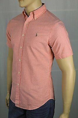 Ralph Lauren Orange Slim Fit Oxford Dress Shirt Multi Colored Pony NWT
