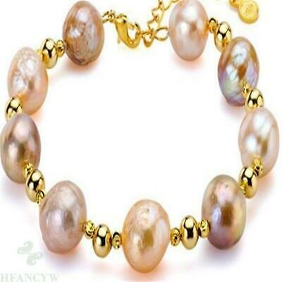 10-11mm Natural Gold Pearl Mara Bracelet Gorgeous Accessories Woman Jewelry | eBay