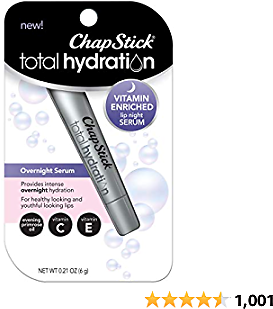 ChapStick Total Hydration Vitamin Enriched Lip Night Serum for Lip Care - 0.21 Oz
