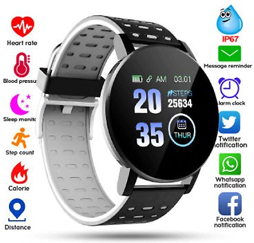 Bluetooth Smart Watch Blood Pressure Sport Tracker WhatsApp For Android And IOS