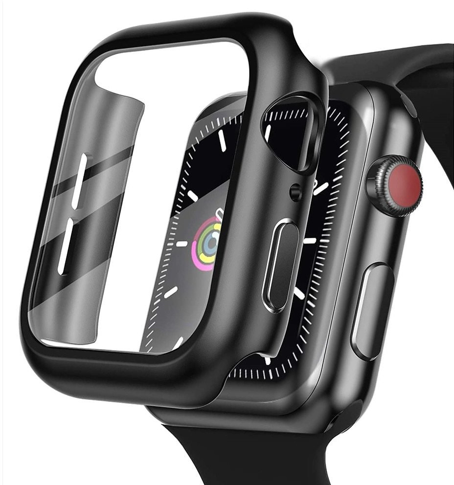US $1.67 33% OFF|cover For Apple Watch Case 44mm 40mm Bracelet Tempered Glass for IWatch 42mm 38mm 42 for Apple Watch Series 6 5 4 3 44 42 38 Mm|Watch Cases| - AliExpress
