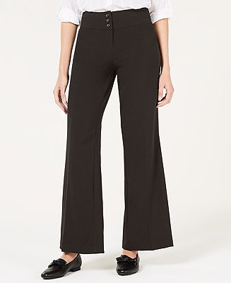 Style & Co Stretch Wide-Leg Pants, Created for Macy's & Reviews - Pants & Leggings - Women