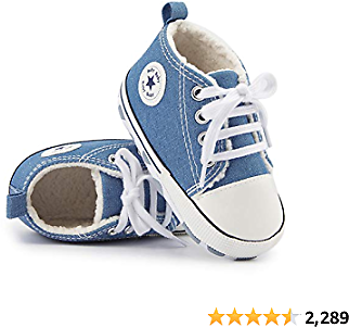 Tutoo Unisex Baby Boys Girls Star Sneaker Soft Anti-Slip Sole Newborn Infant First Walkers Cotton Shoes
