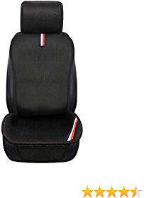 Copap Seat Covers for Cars Front Seat Cover Only Cool Breathable 3D Mesh Material Universal Fit for Cars SUV Truck Sedan for Summer (1Pack Black)