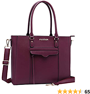FINMOR Briefcase-for Women,Contrast Color 15.6 Inch-Laptop-Bag,Perfect Womens-Work-Bag-for Teacher-College-Office Worker(Burgundy)