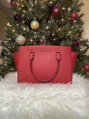 Michael Kors Selma Red Satchel Medium Brand New!