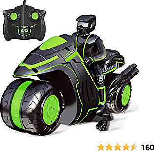Remote Control Car Sross RC Car for Kids 2.4Ghz High Speed and 360° Spinning with One Rechargeable Battery Remote Control Motorcycles for 6-12 Year Old Boys or Girls (Black)