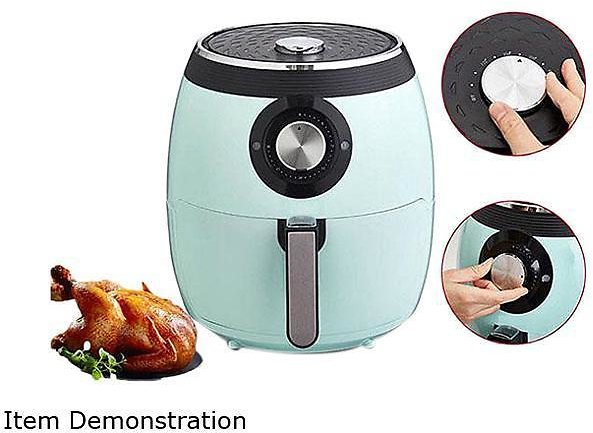 Deep Fry Pan Deluxe Electric Air Fryer + Oven Cooker with Temperature Control