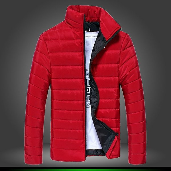Fashion Winter Jacket Mens Stand Collar Male Parkas Jackets Mens Solid Thick Jackets Hombre Coat Man Winter Parkas