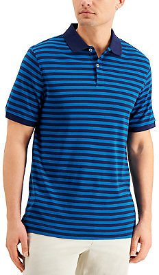 Club Room Men's Striped Interlock Polo Shirt, Created for Macy's & Reviews - Polos - Men