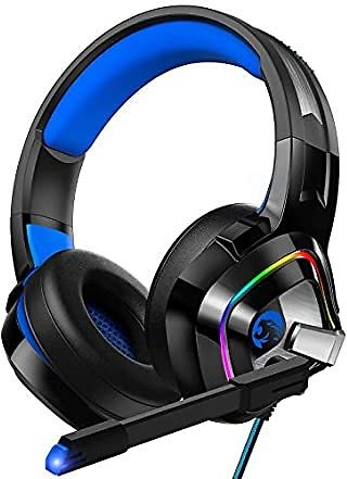 ZIUMIER Z66 Gaming Headset - for PC, PS4, Xbox One & Laptop with Noise Canceling Mic and Rgb Light