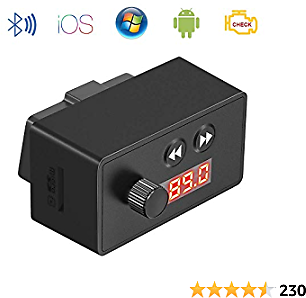 BESWILL OBD2 Scanner Bluetooth,OBD Reader Car Diagnostic Code Scanner for OBD II Protocol Cars Since 1996 Support FM&TF Card Music Playing Compatible with IOS/Android/Windows Devices