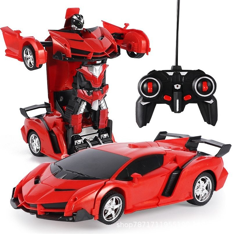 US $14.39 40% OFF|2 in 1 Electric RC Car Transformation Robots Children Boys Toys Outdoor Remote Control Sports Deformation Car Robots Model Toy|RC Cars| - AliExpress