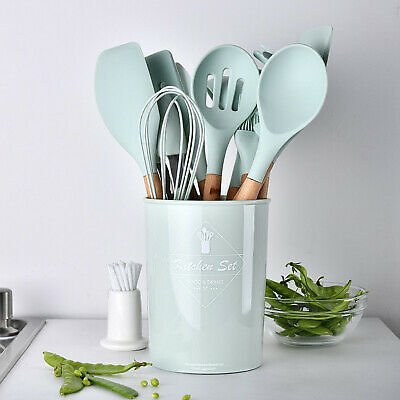 Silicone Non Stick Spatula Spoon Kitchen Cooking Utensil Set Household