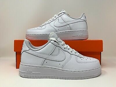 Nike ID Air Force 1 Low Triple White Blue Classic AQ3774 991 Women Size 7.5