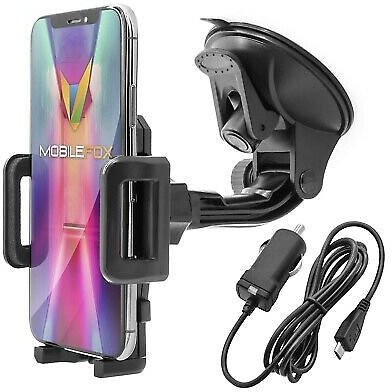 Car Mobile Phone Mount + Smartphone Car Charger | Universal Holder Bracket