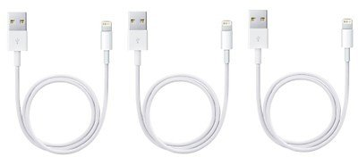 Apple Lightning to USB Cable - (3 Pack)