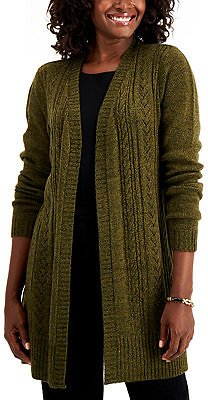 Karen Scott Pointelle-Knit Long Cardigan, Created for Macy's & Reviews - Sweaters - Women