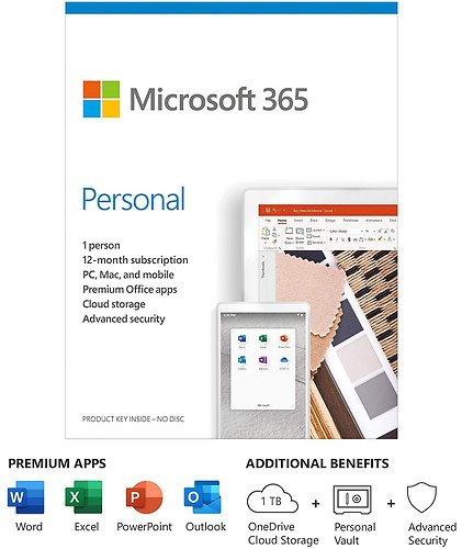 Microsoft 365 Personal 1 Year Subscription for 1 User | BuyDig.com