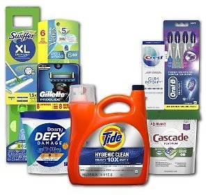 Save $10.00 On 3 Tide, Downy, Gain, Dreft, Swiffer or Febreze with Pickup or Delivery Order