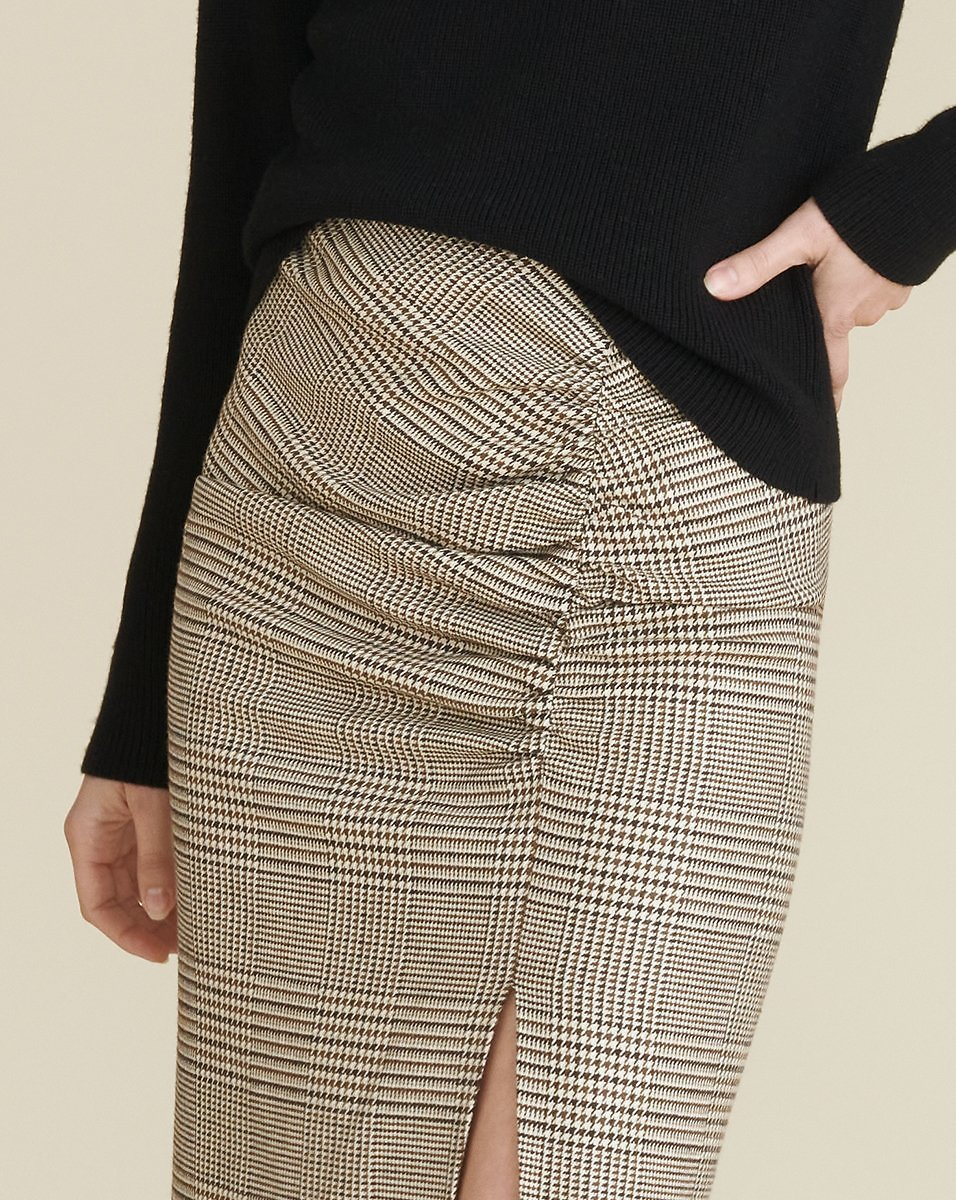 Tamic Plaid Ruched Skirt