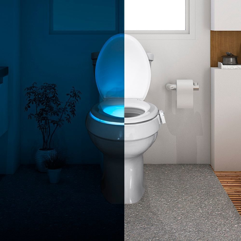 Spark Innovation Motion-Activated Toilet Night Light White SPA840800F001