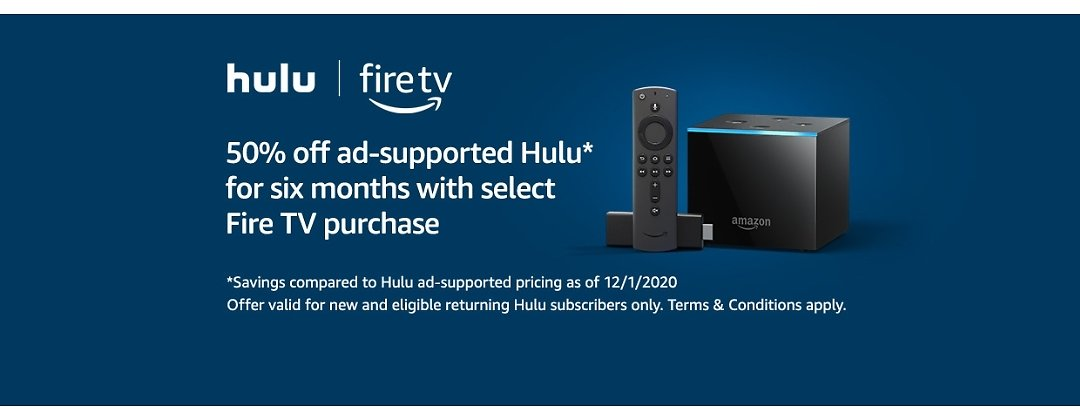 50% Off Hulu with Amazon Fire Device
