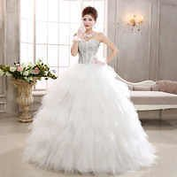Wholesale Q011 Women's Stock Apparel Puffy Organza Skirt Luxury Beaded Crystal Ball Gown Dress From M.alibaba.com