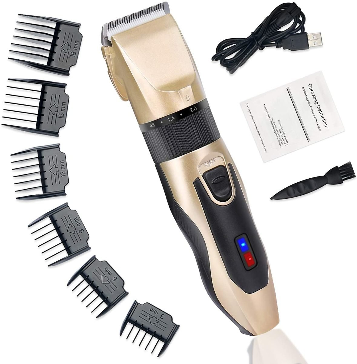 TOOVREN Hair Clippers for Men Professional Hair Trimmer Cutting Cordless Rechargeable Electric Barber Clipper Kit