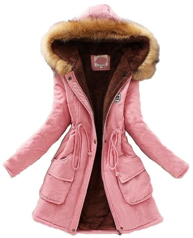 US $17.31 36% OFF|Fashion Parka Coat Women Plus Size Long Sleeve Thick Warmth Clothing 2020 Autumn Winter New 16 Colors Hooded Cotton Jacket JD598|Parkas| - AliExpress