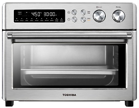 Toshiba Digital Healthy Air Fry Toaster Oven, 6-Slice, 1750 Watts, Stainless Steel