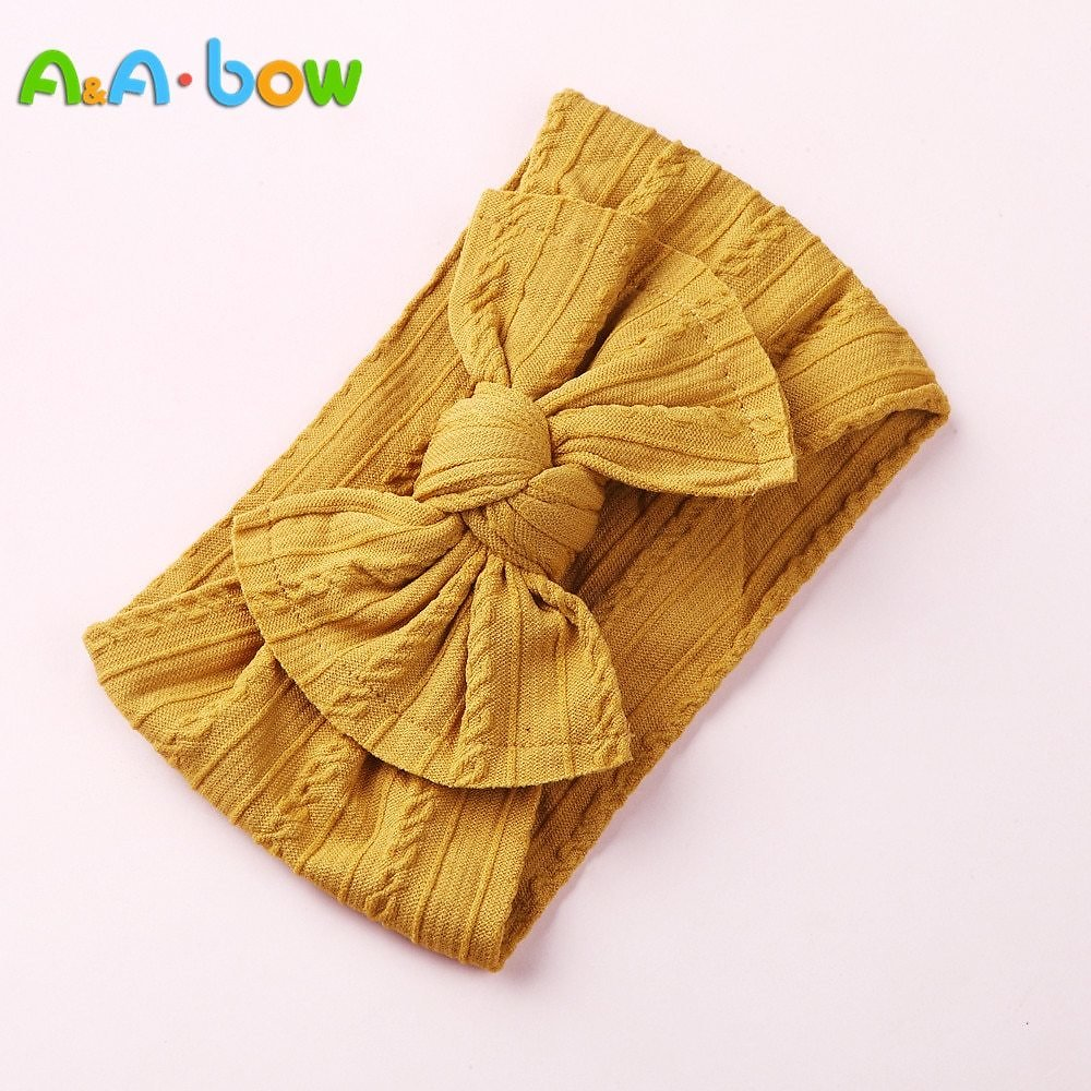 US $0.95 35% OFF|1PCS New Braid Nylon Bow Headbands,Cable Knit Solid Wide Nylon Headbands Turban, Baby Girls Head Wrap Hair Accessories 27 Colors|Hair Accessories| - AliExpress