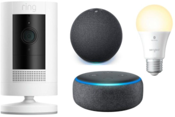 Ring Stick-Up Wireless Indoor/Outdoor Security Camera  + FREE Echo Dot, Free Smart Bulb, & More