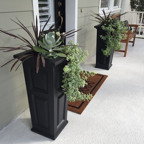 Mayne Nantucket Tall Planter - Black