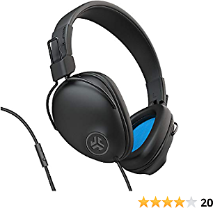 JLab Audio Studio Pro Over-Ear Headphones   Wired Headphones   Tangle Free Cord   Ultra-Plush Faux Leather with Cloud Foam Cushions   40mm Neodymium Drivers with C3 Sound   Black