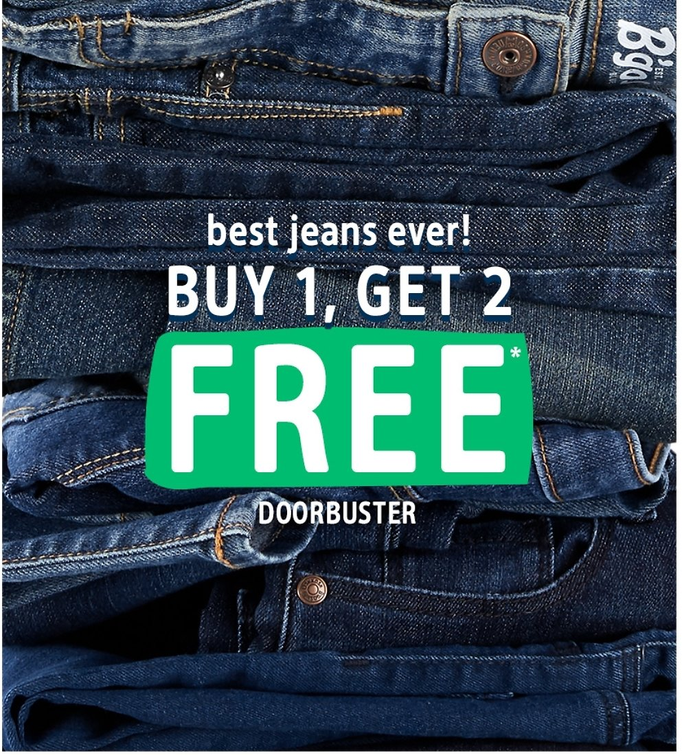 Buy 1, Get 2 Free Jeans