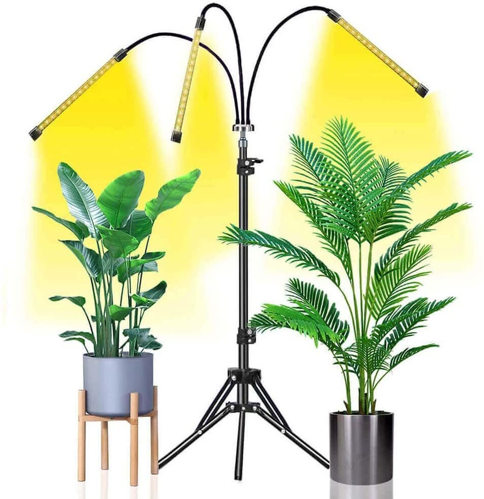 Grow Light Abonnylv 60W Led Tri Head Floor Plant Lights for Indoor Plants with Stand Full Spectrum Lamps Sunlike for Gardening H
