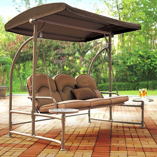 Garden Winds Replacement Swing Canopy Top Cover Only for Home Trends North Hills , Riplock 350 Will Only Fit Model RUS453W - REP