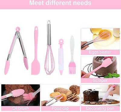 Kitchen Cooking Tools - 5 Cooking Utensils - Silicone Set Kitchen Accessories