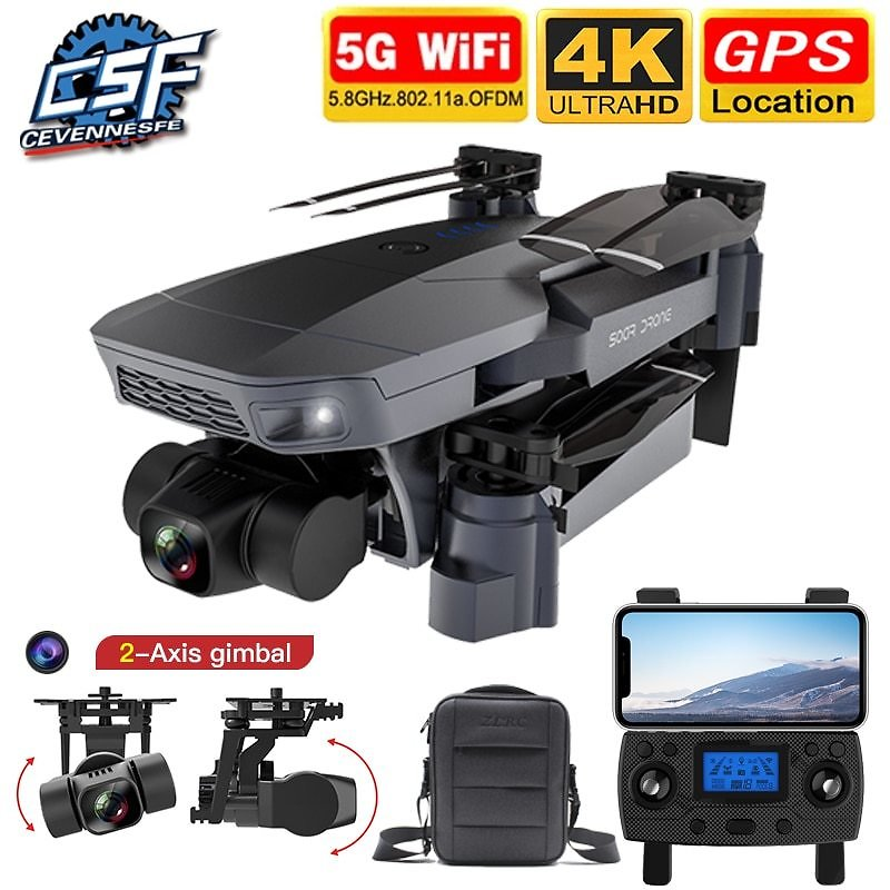 US $49.99 60% OFF|2020 NEW SG907 Pro Drone Quadcopter GPS 5G WIFI 4k HD Mechanical 2 Axis Gimbal Camera Supports TF Card RC Drones Distance 800m|RC Helicopters| - AliExpress