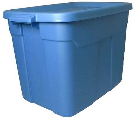 Centrex Rugged Tote 18-Gallon (72-Quart) Metallic Blue Tote with Standard Snap Lid