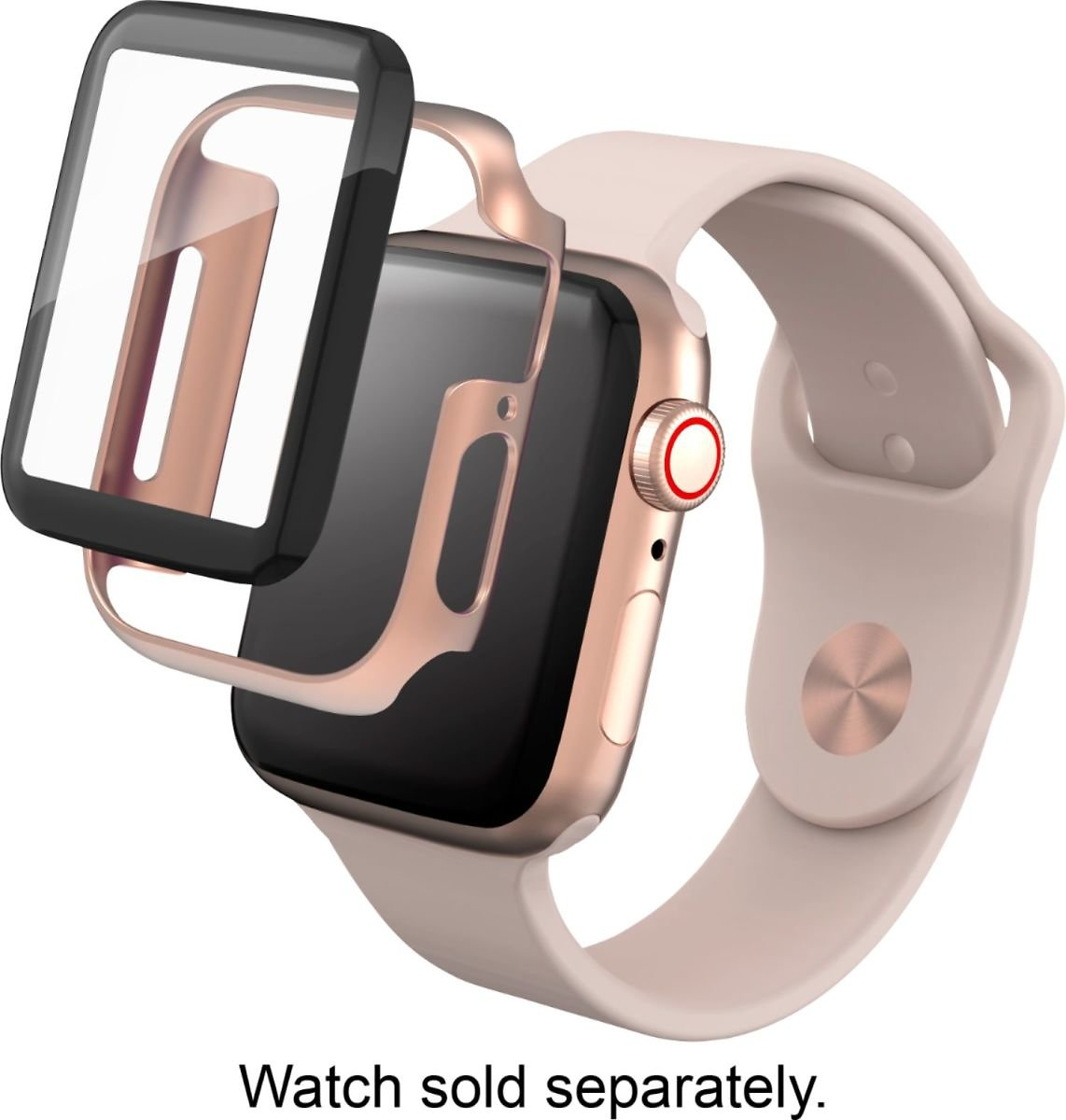 ZAGG InvisibleShield Glass+ 360 Screen Protector for Apple Watch Series 4 40mm and Series 5 40mm Gold 200102702