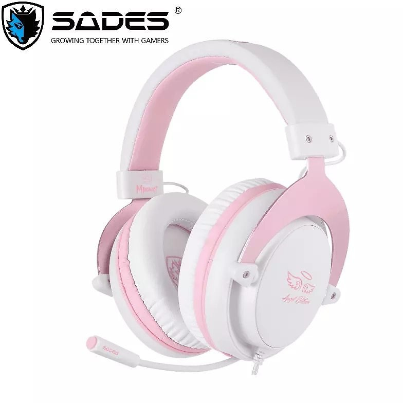 SADES Gaming Headset Headphones 3.5mm Mpower For PC/Laptop/PS4/Xbox One(2015 Version)/Mobile/VR/Nintendo Switch