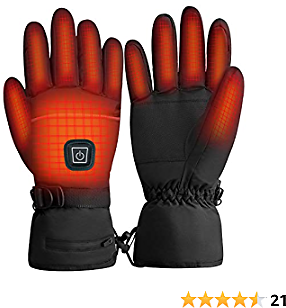 Clheatky Electric Heated Gloves, Rechargeable Heated Gloves for Men and Women, Lightweight Touchscreen Heated Gloves for Winter Skiing Snow Skating Camping Hiking Driving Hand Warmer Gloves