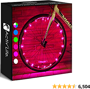 Activ Life Bike Wheel Lights (2 Tires, Pink) Top Birth Day Gifts for Women