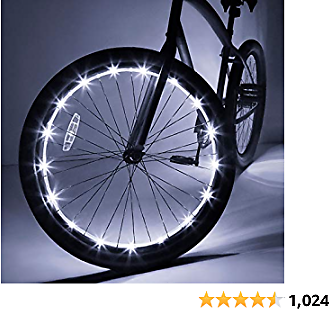 Wheelbrightz LED Bicycle Wheel Lights – for 1 Wheel – Bright, Colorful Light for Bikes – Fits Front or Rear Tire – Weather-Resistant Tube with Battery Pack – for All Ages – Kids, Teens, Adults